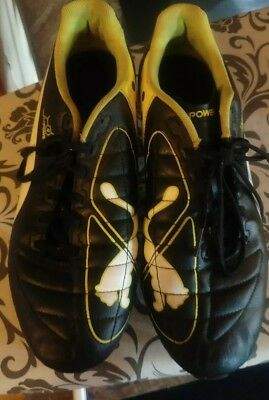 Puma EvoPOWER rugby boots green black white size 8 UK