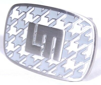 Loudmouth Golf Hounds Tooth Gray and black Belt Buckle