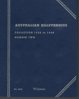 Australian Half Pennies Whitman Folder 1938-1964