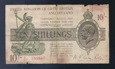 Great Britain, 1922-3, KGV, 10/Shillings, P-358, NICE VG!!