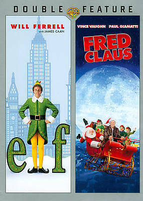 Elf/Fred Claus (2 DVD set, 2013)  Christmas  Holiday  Will Ferrell   Brand NEW