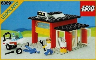 Vintage Boxed 6369 Lego Auto Repair Shop Garage 100 Complete