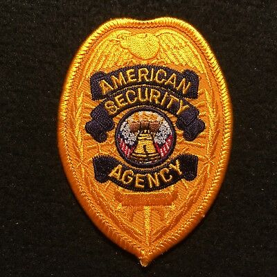 American Security Agency Patch / Safety Private Guard