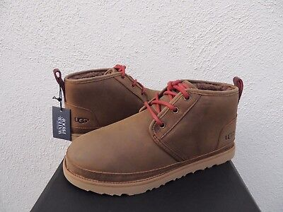cd3a2146d84 UGG NEUMEL GRIZZLY Waterproof Leather Chukka Ankle Boots, Us 12/ Eur 45 ~Nib