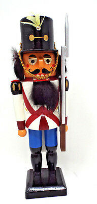 ***ERZGEBIRGISCHE VOLKSKUNST Wood NUTCRACKER SOLDIER Germany!!