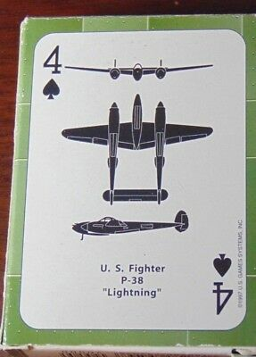 "NEW ""WWII Airplane Spotter"" Playing Cards Decks Vintage Style Reproduction"