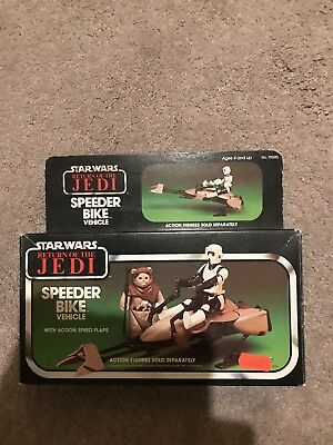 MISB Vintage 1983 Star Wars Return of the Jedi Speeder Bike Vehicle Kenner