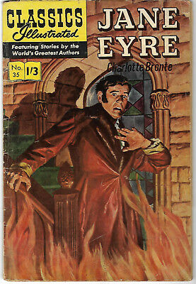 "1960's. CLASSICS ILLUSTRATED #35. ""JANE EYRE"". Charlotte Bronte."