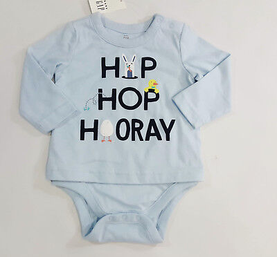 NWT Baby Gap Boys Size 3 6 or 18 24 Months Easter Hip Hop Bodysuit Double Shirt