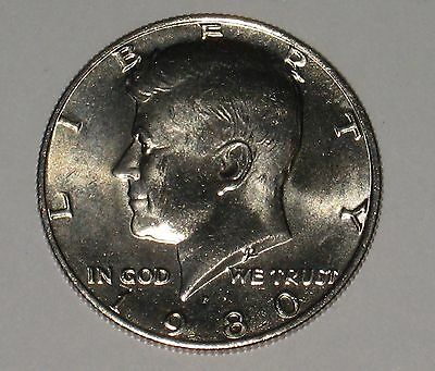 1980-P John F Kennedy Clad Half Dollar Choice BU Condition From Mint Set  DUTCH