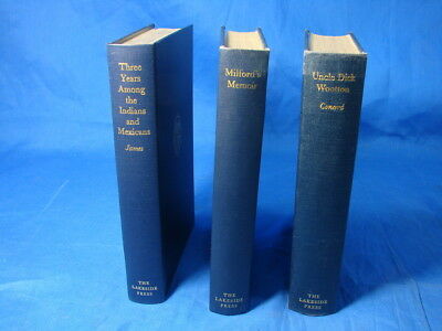 3 Lakeside Press Books Uncle Dick Milford Memoir Three Years Indians Mexicans