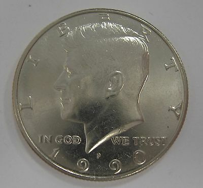 1990-P John F Kennedy Clad Half Dollar Choice BU Condition From Mint Set  DUTCH