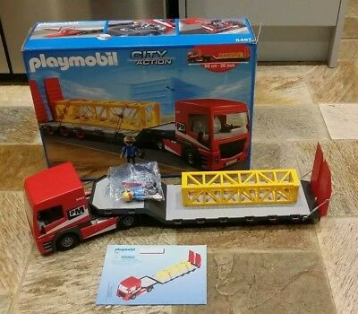 Boxed Playmobil CITY ACTION heavy duty flatbed trailer 5467 CHRISTMAS TOY BOYS