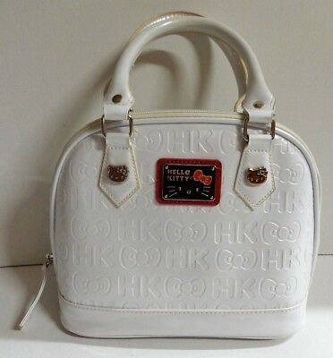 5af38dadfb68 Loungefly Sanrio Hello Kitty White Simulated Leather Embossed Handbag Purse