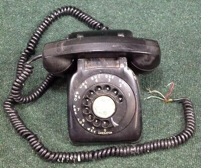 Vintage Automatic Electric Monophone Rotary Telephone Black