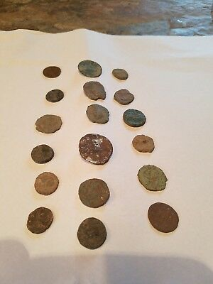 Ancient Roman Coin Lot Of 18