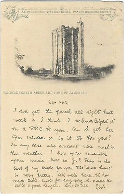 Scotland Cambuskenneth Abbey & Tomb of James Early 1902 Vintage Postcard 15.11