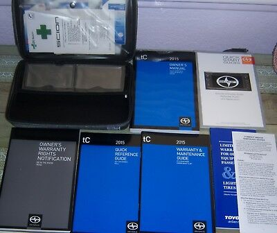 Oem 2015 Toyota Scion Tc Owners Manual Guide Book Set Deluxe First Aid Case