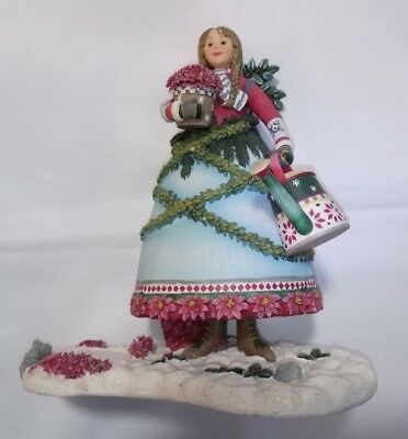 Christmas Debbie Mumm Holiday Angel Centerpiece Decoration Candle Box Gifts NEW