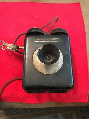 Stromberg-Carlson Small Manual Metal Wall Telephone. As Found