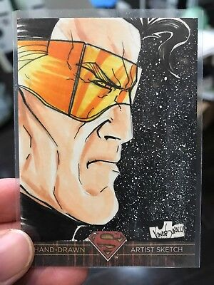 2012 DC Superman Artist Sketch Card Action Man By Vince Sunico 1/1 Cryptozoic