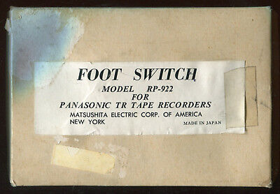 Vintage Tested Panasonic Tape Recorder Foot Switch Foot Pedal Model RP-922