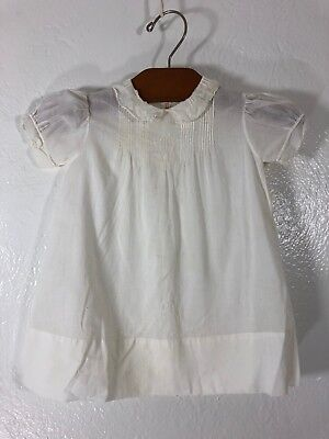 VTG Famous Imports Newborn Gown Baptism Christening Handmade Dress Embroidered