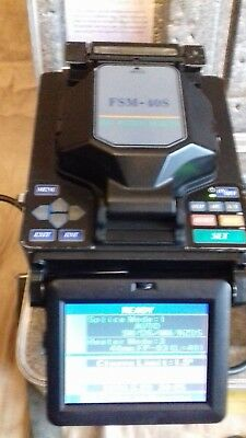 Fujikura FSM-40S SM MM Fiber Core Alignment Fusion Splicer w/Battery