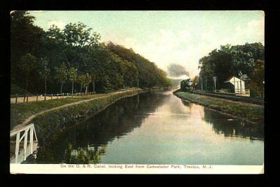 1908 D.&R. Canal looking East from Cadwalader park  Trenton, New Jersey