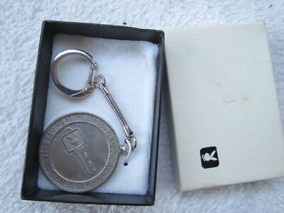 """Playboy Club London 1966, coin keychain, """"to be used at Playboy Club"""", vintage"""