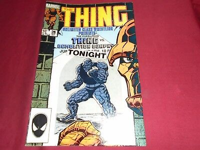 THE THING #28 Fantastic Four Marvel Comics 1985 VF-