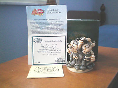 Harmony Kingdom Disney Mickey Mouse Club UK Made Box Figurine Artist Proof RARE