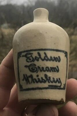 Rare Golden Cream Whiskey Mini Jug Mobile Alabama Ala Early Pre Pro