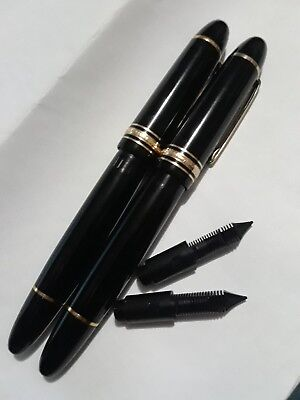 2 used modern Montblanc 149 Fountain Pens for parts Good Working PISTONS