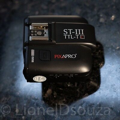 Pixapro Wireless flash trigger ST-III TTL-T for Canon cameras (hardly used)