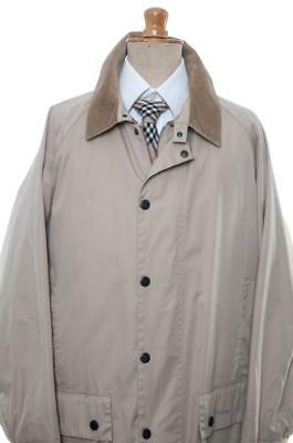 Barbour Beaufort Lightweight Cotton Jacket L Large A963 Waterproof Breathable