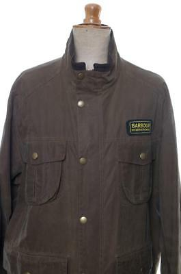 BARBOUR INTERNATIONAL100% COTTON WAX jacket XXL EXEXLARGE traditional sylkoil
