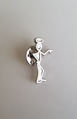 Rare The Saint Metal Promo Pin - Simon Templar Movie Tv Lapel