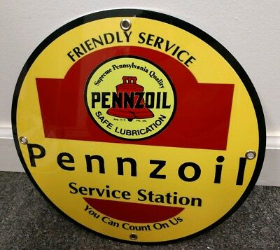 Pennzoil Service Station Gas Oil gasoline sign ... free ship on any 10 signs