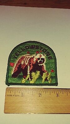 """Yellowstone National Park American grizzly Bear  3"""" Long Embroidered Patch"""