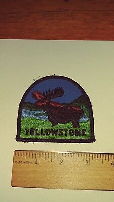 """Yellowstone National Park American Moose 3"""" Long Embroidered Patch"""