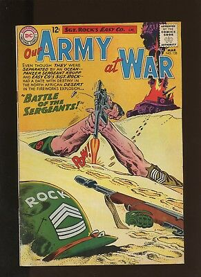 Our Army At War 128 VG/FN 5.0 * 1 Book * DC! Horror! Action! Sgt. Rock! Easy!