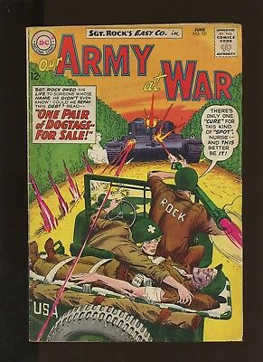 Our Army At War 131 FN 5.5 * 1 Book Lot * DC! Horror! Action! Sgt. Rock! Easy!