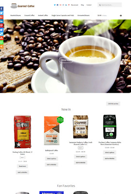 Coffee eCommerce Website Business For Sale Unlimited Stock Shopping Cart SALE