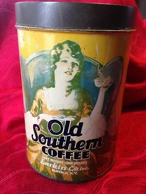 Antique Old Southern Coffee One Pound Tin Larkin Co Inc - Great Graphics