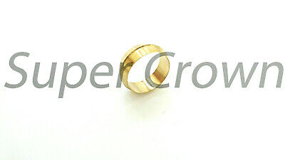"Ф7/8"" ID Brass Olive Barrel Compression Sleeve Ferrule Ring NPT Soft Copper 1pc"