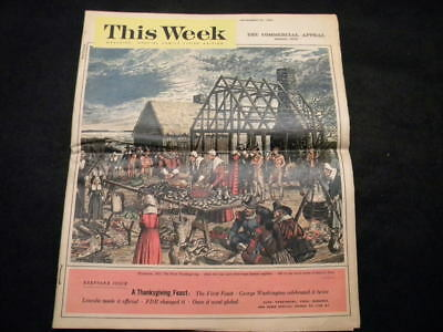 "Vintage 11-22-64 ""This Week"" Magazine from Commercial Appeal (Thanksgiving)"