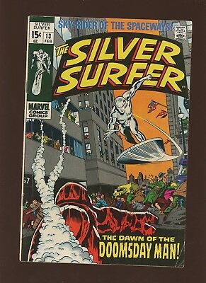 Silver Surfer 13 FN/VF 7.0 * 1 Book * Marvel! 1970! Dawn of the Doomsday Man