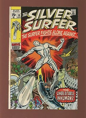 Silver Surfer 18 FN/VF 7.0 * 1 Book Lot * Marvel! Lee & Kirby! 1970! Inhumans!