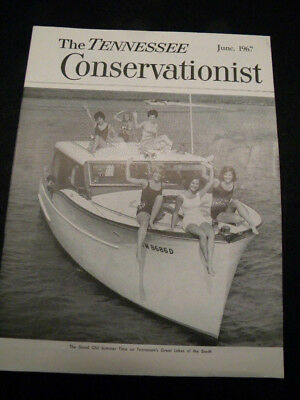 Vintage June 1967 The Tennessee Conservationist Magazine - Summer on the Lakes